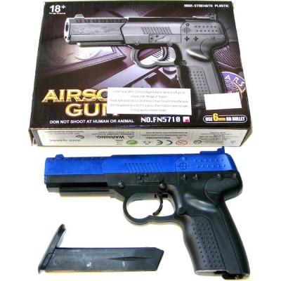 CCCP FN5710 Small Spring Powered Blue Plastic BB Gun Pistol
