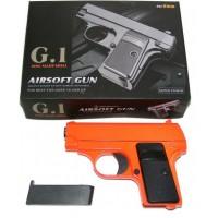 Galaxy G1 Orange Spring Powered Metal BB Gun Pistol 250 FPS