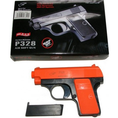 Double Eagle P328 Spring Powered Orange Plastic BB Gun Pistol