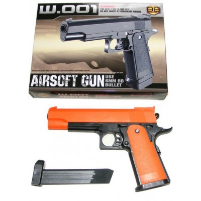 BB Sports W.001 Spring Powered Orange Plastic BB Gun Pistol