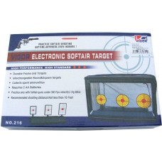 Multi-Function Electro-Mechanical Knock Down BB Gun Target with 6 Targets and Netting